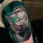 Realistic Otter Tattoo