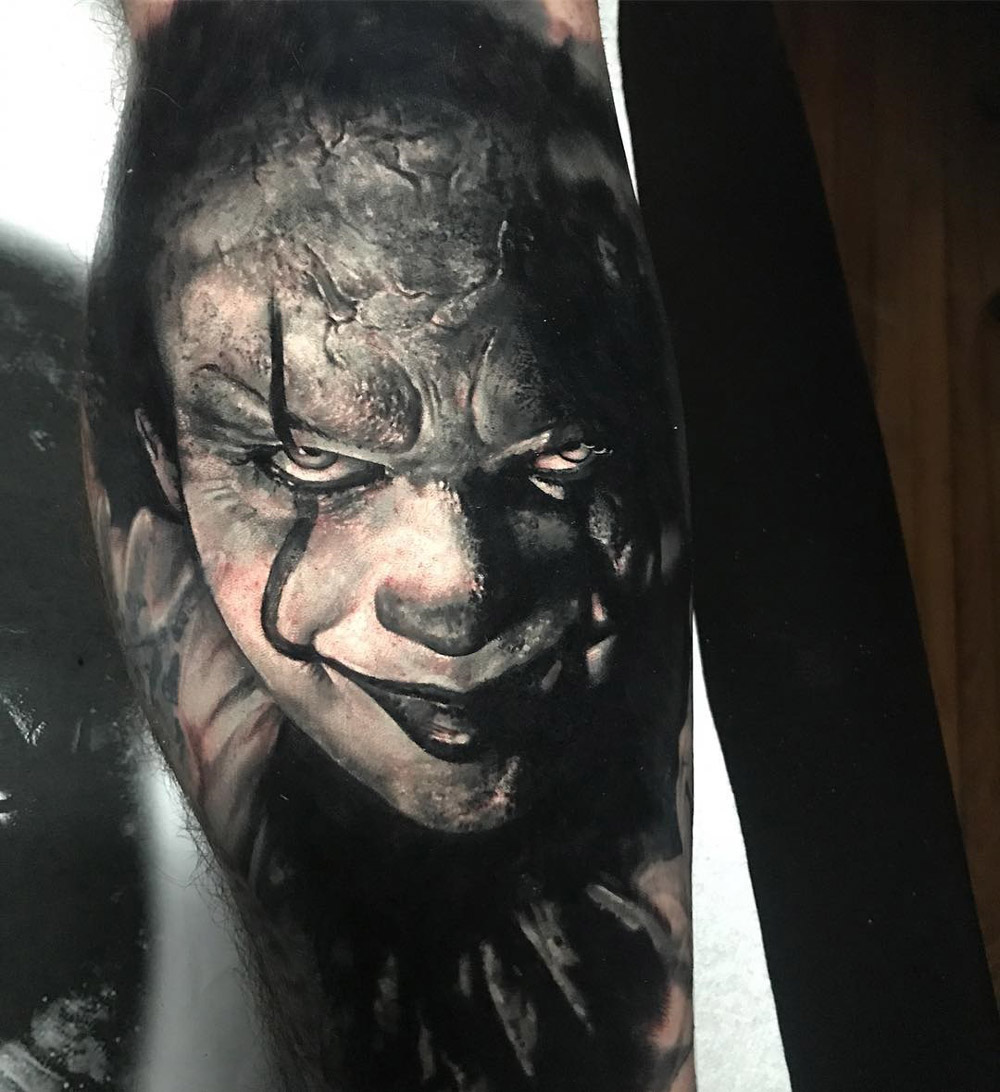 Pennywise the clown tattoo
