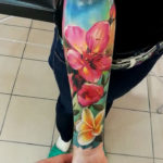 Girl's floral sleeve