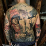Sami people, mens back tattoo