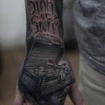 Treasure Chest, mens hand tattoo