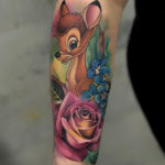 Pretty Bambi, girl's arm tattoo