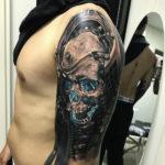 Futuristic Skull Tattoo