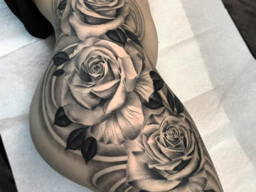 Girls Side Roses