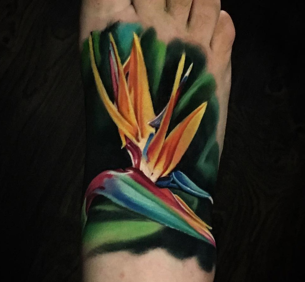 Bird of Paradise Flower Tattoo