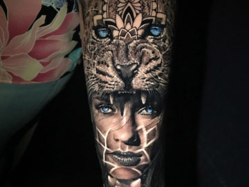Cat headdress sleeve
