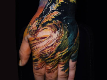 Shore Break Hand Tattoo