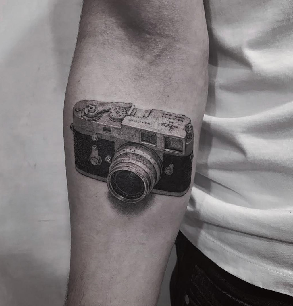 leica m2 camera tattoo best tattoo design ideas. Black Bedroom Furniture Sets. Home Design Ideas
