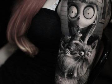 Weird girl & Mr. Whiskers Tattoo