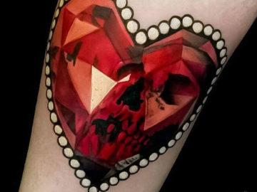 Ruby Skull Heart