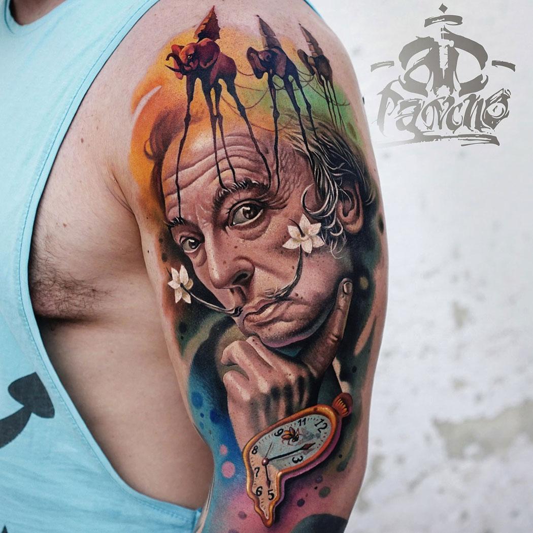 Salvador Dali Tattoo Dali Tattoo: Best Tattoo Design Ideas