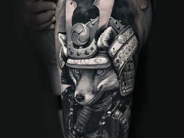 Samurai Fox Tattoo