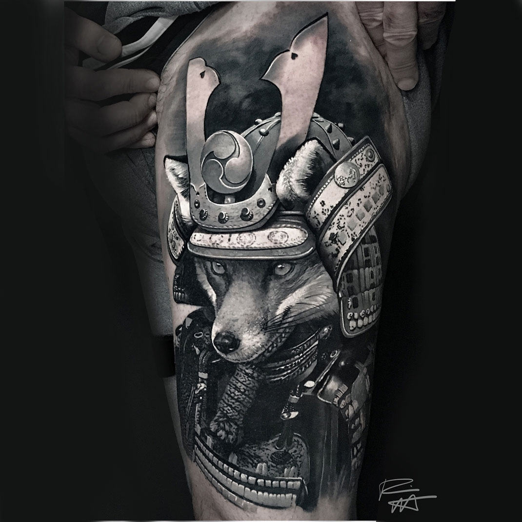Samurai Fox Tattoo