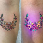 UV flowers tattoo