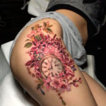 Chrysanthemum hip tattoo