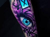 Graffiti Eye Vvid Tattoo