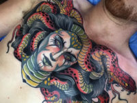 Medusa Chest Tattoo