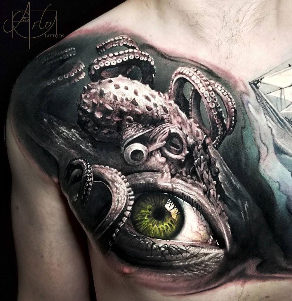 Octopus & Human Eye