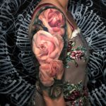 Pink Roses Arm Tattoo