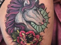 Unicorn Hip Tattoo