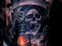 Scary Grim Reaper tattoo