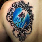 Little Mermaid Shoulder Tattoo
