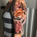 Floral Fox Tattoo