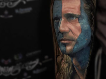 Mel Gibson as William Wallace Tattoo