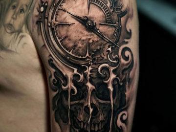 Clock & Skull