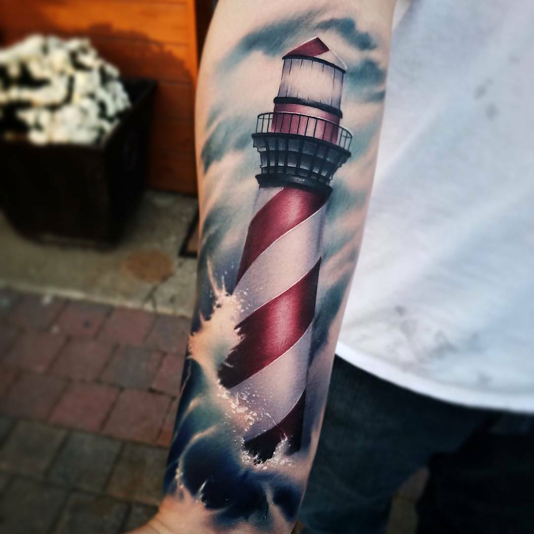 Red & White Lighthouse
