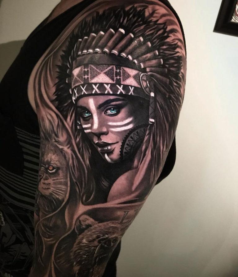 9fd9464f3 Indian Girl Portrait | Best tattoo design ideas