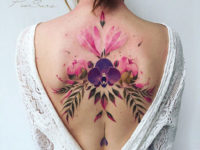 Girl's floral back piece