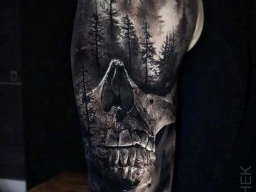 Skull & Forest, Mens upper arm