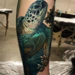 Realism Sea Turtle Tattoo
