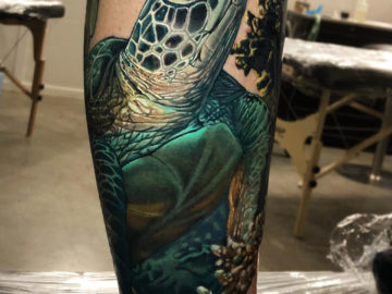 Realism Sea Turtle Tattoo