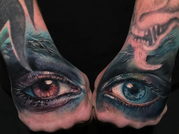Eye See You hand tattoos
