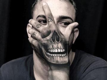Hand Skull Tattoo