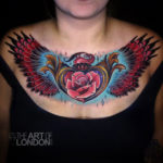 Heart Locket, Rose and wings