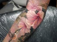 Hummingbird & Lilies