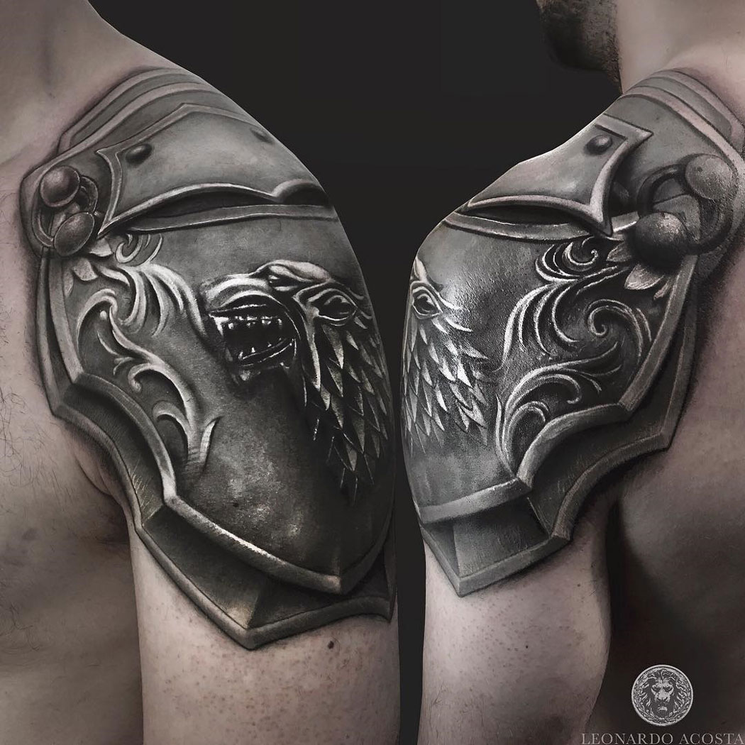 House Of Stark Shoulder Armour Game Of Thrones Best Tattoo