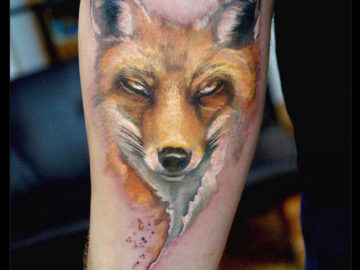 The Sly Fox, girls arm tattoo