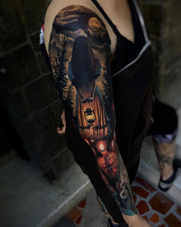 Dark Witch, woman's sleeve