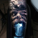 Poseidon underwater tattoo