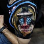 Baboon shoulder tattoo