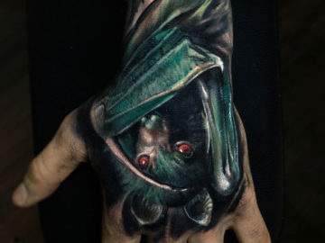 Bat Tattoo on guy's hand