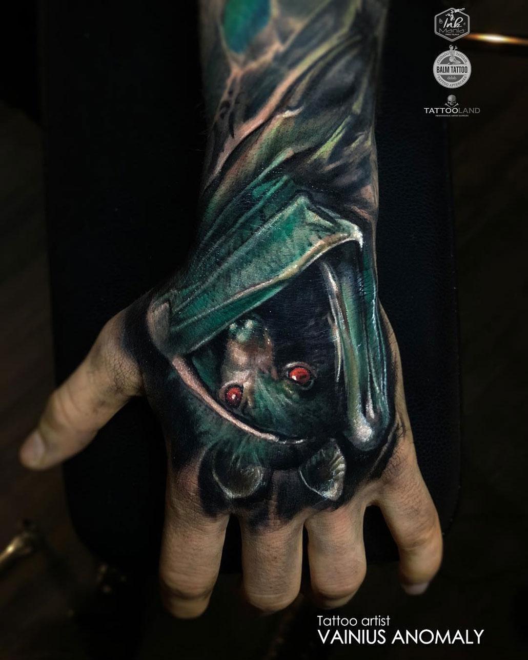 Bat Hand Tattoo