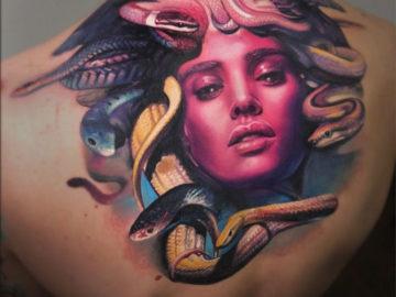 Medusa Back Tattoo