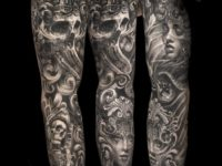 Pirate Ship & Skulls Sleeve