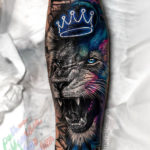 Space Lion tattoo