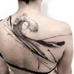 Abstract Wave back tattoo
